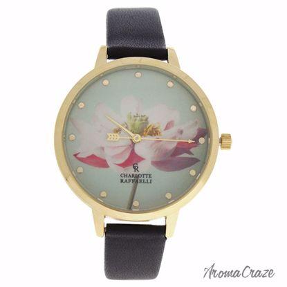 Charlotte Raffaelli CRF008 La Florale Gold/Black Leather Str