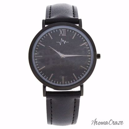 Andreas Osten AO-176 Hygge Black Charcoal/Black Leather Strap Watch for Women 1 Pc - Best Womens Watches | Watches For Women on Sale | Luxury Watches For Women | Women Desginer Watches | Michael Kors Smarwatch | Affordable Luxury Watches | AromaCraze.com