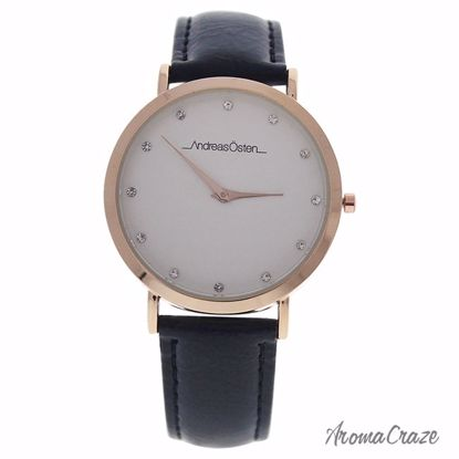 Andreas Osten AO-13 Klassisk Rose Gold/Black Leather Strap Watch for Women 1 Pc - Best Womens Watches | Watches For Women on Sale | Luxury Watches For Women | Women Desginer Watches | Michael Kors Smarwatch | Affordable Luxury Watches | AromaCraze.com