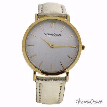 Andreas Osten AO-199 Hygge Gold/Champagne Gold Leather Strap Watch for Women 1 Pc - Best Womens Watches | Watches For Women on Sale | Luxury Watches For Women | Women Desginer Watches | Michael Kors Smarwatch | Affordable Luxury Watches | AromaCraze.com