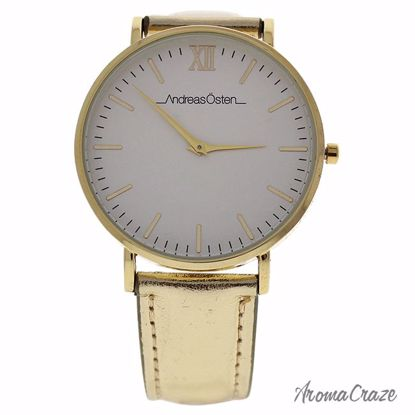 Andreas Osten AO-188 Hygge Gold/White Dial/Gold Leather Strap Watch for Women 1 Pc - Best Womens Watches | Watches For Women on Sale | Luxury Watches For Women | Women Desginer Watches | Michael Kors Smarwatch | Affordable Luxury Watches | AromaCraze.com