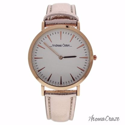 Andreas Osten AO-196 Hygge Rose Gold/light Pink Leather Strap Watch for Women 1 Pc - Best Womens Watches | Watches For Women on Sale | Luxury Watches For Women | Women Desginer Watches | Michael Kors Smarwatch | Affordable Luxury Watches | AromaCraze.com