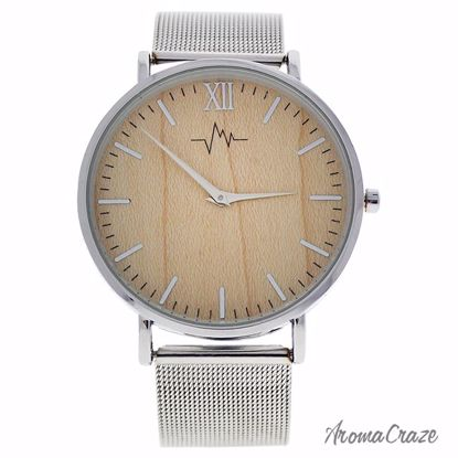 Andreas Osten AO-193 Hygge Silver/Wood Stainless Steel Mesh Bracelet Watch for Women 1 Pc - Best Womens Watches | Watches For Women on Sale | Luxury Watches For Women | Women Desginer Watches | Michael Kors Smarwatch | Affordable Luxury Watches | AromaCraze.com