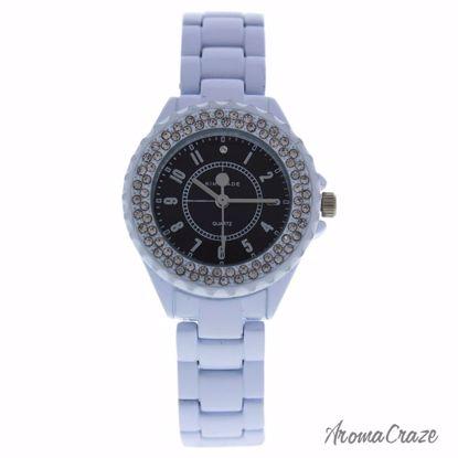 Kim & Jade 2033L-WB White Stainless Steel Bracelet Watch for