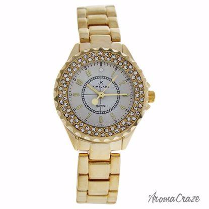 Kim & Jade 2033L-GW Gold Stainless Steel Bracelet Watch for
