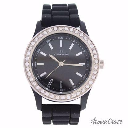 Kim & Jade 2032L-BK Black Silicone Strap Watch for Women 1 P