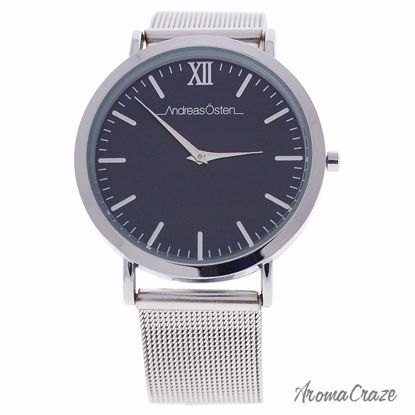 Andreas Osten AO-132 Distrig Silver Milanese Stainless Steel Mesh Bracelet Watch for Women 1 Pc - Best Womens Watches | Watches For Women on Sale | Luxury Watches For Women | Women Desginer Watches | Michael Kors Smarwatch | Affordable Luxury Watches | AromaCraze.com