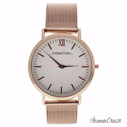 Andreas Osten AO-135 Distrig Rose Gold Stainless Steel Mesh Bracelet Watch for Women 1 Pc - Best Womens Watches | Watches For Women on Sale | Luxury Watches For Women | Women Desginer Watches | Michael Kors Smarwatch | Affordable Luxury Watches | AromaCraze.com