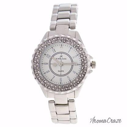 Kim & Jade 2033L-SS Silver Stainless Steel Bracelet Watch fo