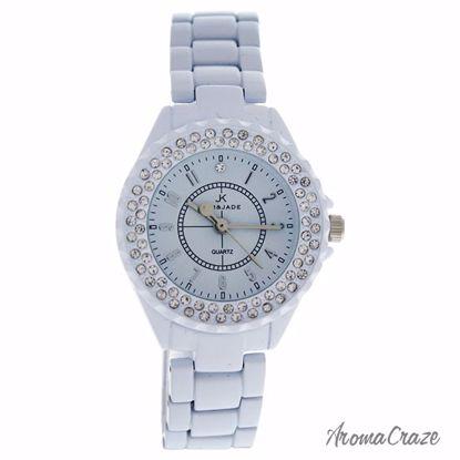 Kim & Jade 2033L-WW White Stainless Steel Bracelet Watch for