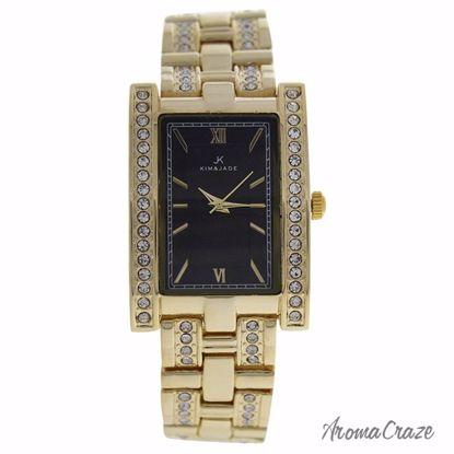 Kim & Jade 2060L-GB Gold Stainless Steel Bracelet Watch for