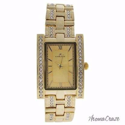 Kim & Jade 2060L-GG Gold Stainless Steel Bracelet Watch for