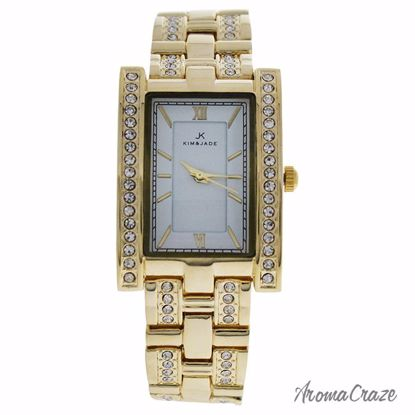 Kim & Jade 2060L-GW Gold Stainless Steel Bracelet Watch for