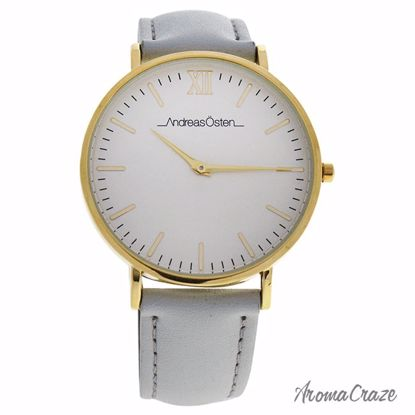 Andreas Osten AO-163 Gold/Gray Leather Strap Watch for Women 1 Pc - Best Womens Watches | Watches For Women on Sale | Luxury Watches For Women | Women Desginer Watches | Michael Kors Smarwatch | Affordable Luxury Watches | AromaCraze.com