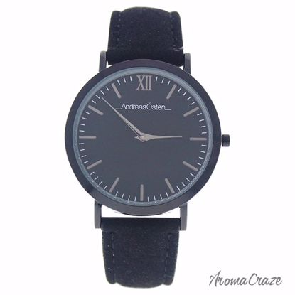 Andreas Osten AO-118 Tidlos Black Coal/Black Leather Strap Watch for Women 1 Pc - Best Womens Watches | Watches For Women on Sale | Luxury Watches For Women | Women Desginer Watches | Michael Kors Smarwatch | Affordable Luxury Watches | AromaCraze.com