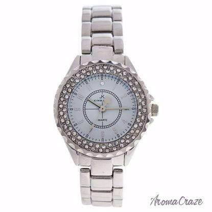 Kim & Jade 2033L-SW Silver Stainless Steel Bracelet Watch fo