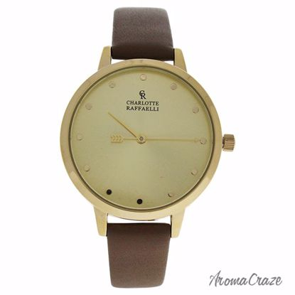 Charlotte Raffaelli CRB005 La Basic Gold/Brown Leather Strap