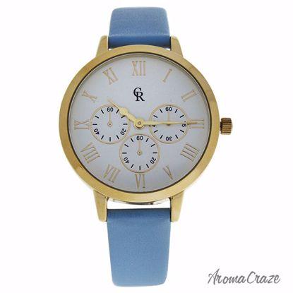 Charlotte Raffaelli CRB011 La Basic Gold/Light Blue Leather