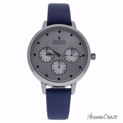 Charlotte Raffaelli CRB013 La Basic Silver/Blue Leather Stra
