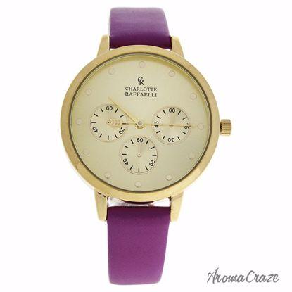 Charlotte Raffaelli CRB014 La Basic Gold/Purple Leather Stra