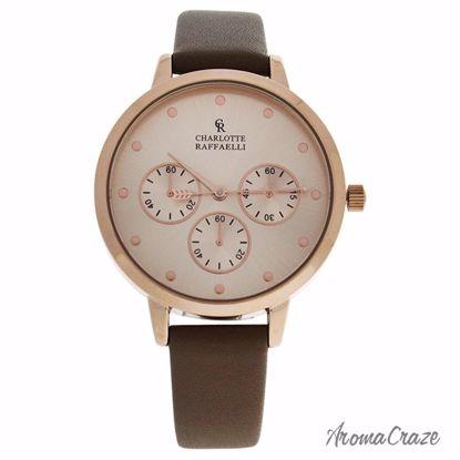 Charlotte Raffaelli CRB015 La Basic Rose Gold/Brown Leather