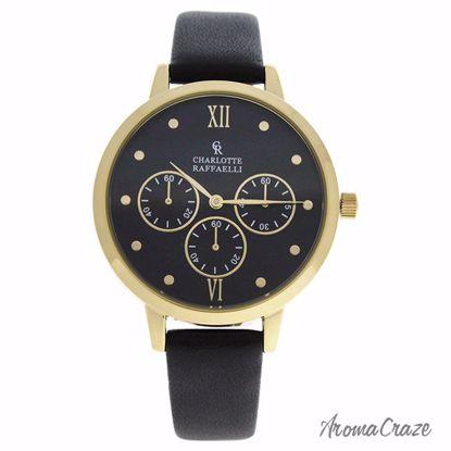 Charlotte Raffaelli CRB016 La Basic Gold/Black Leather Strap