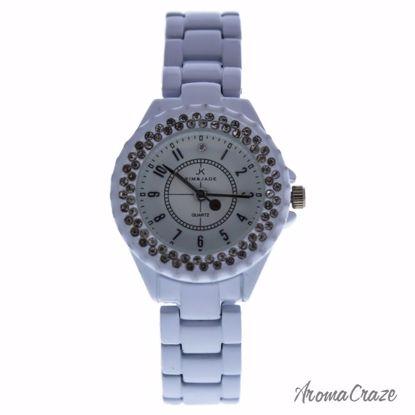 Kim & Jade 2033L-WS White Stainless Steel Bracelet Watch for