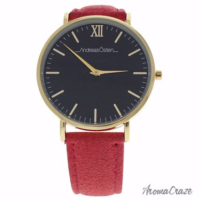 Andreas Osten AO-109 Gold/Pink Leather Strap Watch for Women 1 Pc - Best Womens Watches | Watches For Women on Sale | Luxury Watches For Women | Women Desginer Watches | Michael Kors Smarwatch | Affordable Luxury Watches | AromaCraze.com