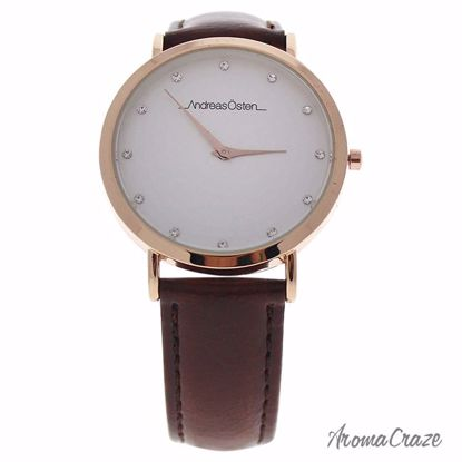 Andreas Osten AO-28 Klassisk Rose Gold/Brown Leather Strap Watch for Women 1 Pc - Best Womens Watches | Watches For Women on Sale | Luxury Watches For Women | Women Desginer Watches | Michael Kors Smarwatch | Affordable Luxury Watches | AromaCraze.com