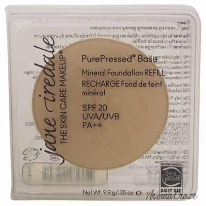 Jane Iredale PurePressed Base Mineral SPF 20 Bisque Foundation (Refill) for Women 0.35 oz - Face Makeup Products | Face Cosmetics | Face Makeup Kit | Face Foundation Makeup | Top Brand Face Makeup | Best Makeup Brands | Buy Makeup Products Online | AromaCraze.com