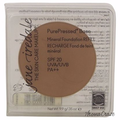 Jane Iredale PurePressed Base Mineral SPF 20 Caramel Foundation (Refill) for Women 0.35 oz - Face Makeup Products | Face Cosmetics | Face Makeup Kit | Face Foundation Makeup | Top Brand Face Makeup | Best Makeup Brands | Buy Makeup Products Online | AromaCraze.com