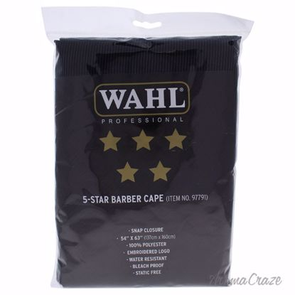 5 Star Barber Cape - # 97791 - Black by WAHL Professional fo