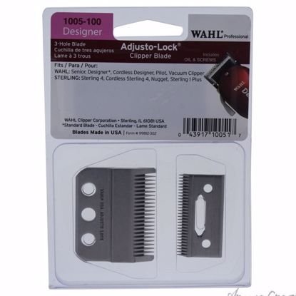3-Hole Adjusto - Lock Clipper Blade - Model # 1005-100 by WAHL Professional for Men - 1 Pc Clipper Blade - Hair Cut Tools   Hair Styling Products   Hair Styling Tool   Hair Cutting Tools   Hair Cutting Scissors   Hair Dressing Tools   Hair Products   AromaCraze.com