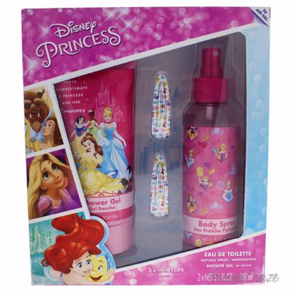 Disney Princess by Disney for Kids - 3 Pc Gift Set 5.1oz Bod