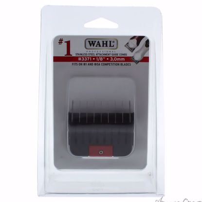 Stainless Steel Attachment Comb - # 1 For Cuts 1/8 Black by