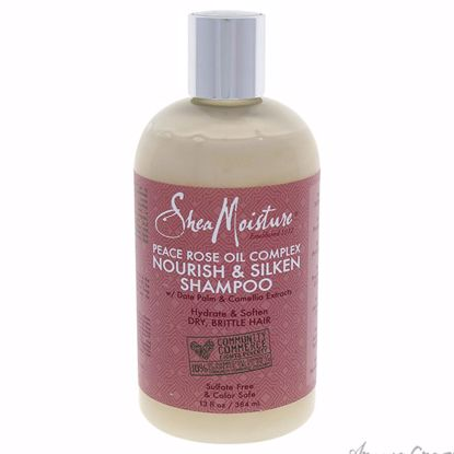 Peace Rose Oil Complex Nourish & Silken Shampoo by Shea Mois