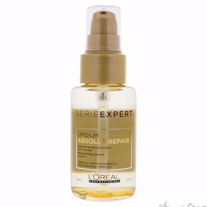 Serie Expert Absolut Repair Lipidium Nourishing Serum by LOreal Professional for Unisex - 1.69 oz Serum - Hair Treatment Products | Best Hair Styling Product | Hair Oil Treatment | Damage Hair Treatment | Hair Care Products | Hair Spray | Hair Volumizing Product | AromaCraze.com