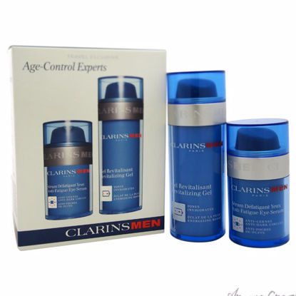 Age Control Experts Set by Clarins for Men - 2 Pc Gift Set 1.7 oz Revitalizing Creme, 0.7 oz Anti-Fatigue Eye Serum. - Eye Care Products | Eye Treatment | Eye Skincare Products | All Natural Skin care | Best Anti Aging Skin Care Products |  AromaCraze.com