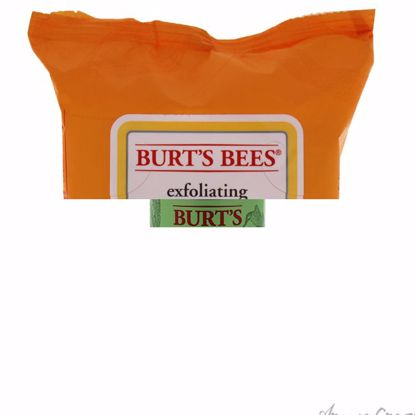 Facial Cleansing Towelettes - Peach & Willow Bark Exfoliating by Burts Bees for Unisex - 25 Pc Towelettes - Face Care Products | Facial Care Products | All Natural Skin care | Best Anti Aging Skin Care Products | AromaCraze.com