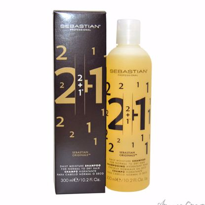 2 + 1 Daily Moisture Shampoo by Sebastian for Unisex - 10.2 oz Shampoo - Hair Shampoo | Best Shampoo For Hair Growth | Shampoo and Conditioner For Damage Hair | Fizzy Hair Shampoo | Best Professional Shampoo | Top Brands Hair Care Products | AromaCraze.com