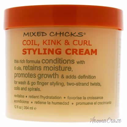 Coil Kink and Curl Styling Cream by Mixed Chicks for Unisex
