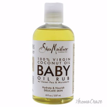 100 Percent Virgin Coconut Oil Baby Oil Rub by Shea Moisture for Kids - 8 oz Oil - Top Skin Care Products | Best Anti Aging Skin Care Products| Body Care | All Natural Skin care | AromaCraze.com