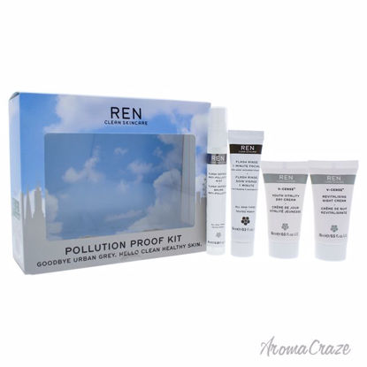 Pollution Proof Kit by REN for Unisex - 4 Pc Kit 0.68oz Flas
