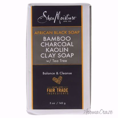 African Black Soap Bamboo Charcoal Kaolin Clay Soap by Shea