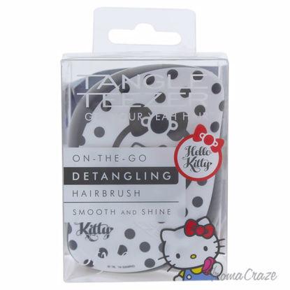 Hello Kitty Compact Styler Detangling Hairbrush - Black-Whit