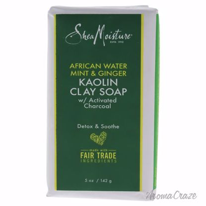 African Water Mint and Ginger Kaolin Clay Soap by Shea Moisture for Unisex - 5 oz Bar Soap - Face Makeup Products   Face Cosmetics   Face Makeup Kit   Face Foundation Makeup   Top Brand Face Makeup   Best Makeup Brands   Buy Makeup Products Online   AromaCraze.com