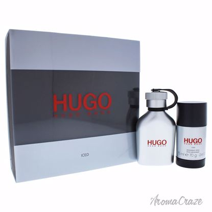 7602f0280c Hugo Iced by Hugo Boss for Men - 2 Pc Gift Set 2.5oz EDT Spray, 2.4oz  Deodorant Stick