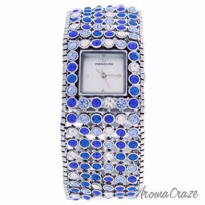 Manoush MSHMAB Marilyn Silver/Blue Stainless Steel Bracelet
