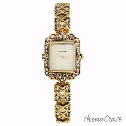 Manoush MSHLLG Loulou Gold Stainless Steel Bracelet Watch fo
