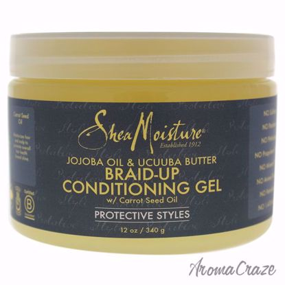Jojoba Oil and Ucuuba Butter Braid Up Conditioning Gel by Shea Moisture for Unisex - 12 oz Gel - Hair Treatment Products | Best Hair Styling Product | Hair Oil Treatment | Damage Hair Treatment | Hair Care Products | Hair Spray | Hair Volumizing Product | AromaCraze.com